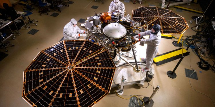 InSight spacecraft solar array
