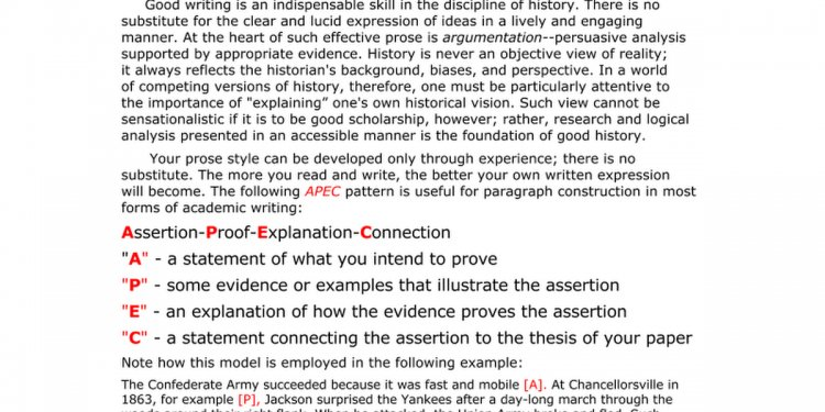 Paragraph outline Example