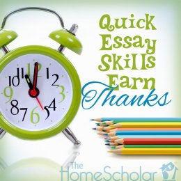 Quick Essay techniques obtain Many thanks #Homeschool @TheHomeScholar