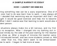 Examples of narrative essay Writing