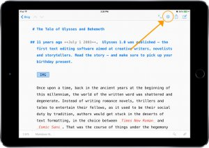 Ulysses for iPad, fresh through the App Store